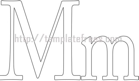 large letter m template 9 best images of large printable lowercase alphabet