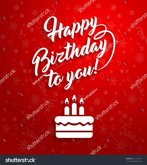 happy birthday to you design happy birthday you lettering text vector stock vector