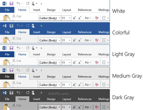 office themes review what s new in microsoft office 2016 askvg