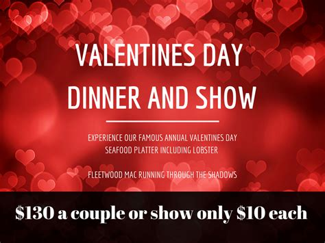 s day dinner and a valentines day dinner and show sharks