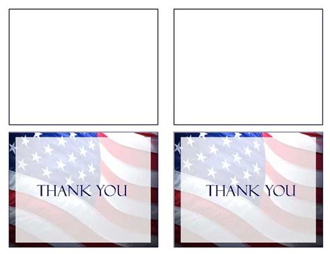 cards template patriotic funeral thank you card template programs patriotic us