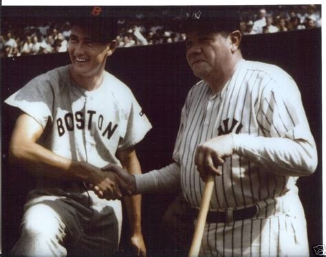 ruth in color ny yankees ruth and ted williams 8x10 color