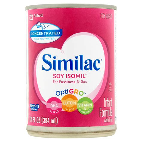 similac total comfort liquid similac soy isomil infant formula with iron concentrated