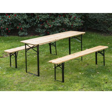 wooden bench table ebay 3pcs wooden table bench set patio folding picnic