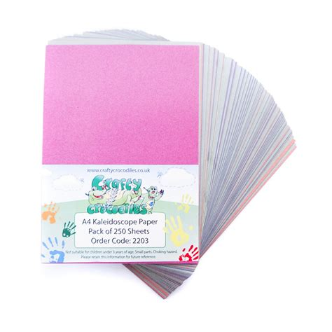 Card Paper Packs - pack of 250 sheets a4 kaleidoscope paper card paper