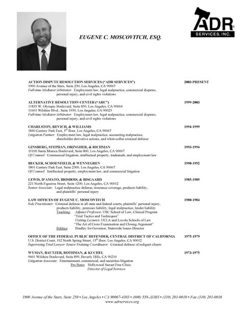 eugene moscovitch adr services inc