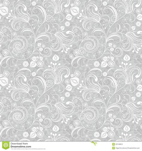 Floor Plan Template seamless gray floral pattern stock photography image