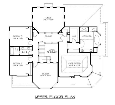second floor plan craftsman home plan with 3 bedrooms 3130 sq ft house plan 115 1000