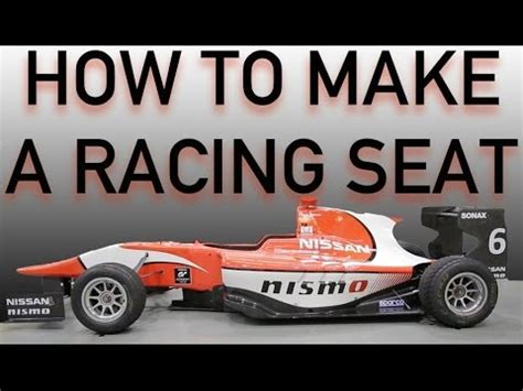 how to make a racing seat youtube
