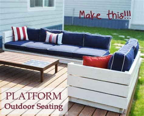 how to build outdoor sectional how to build a platform outdoor sectional free plans