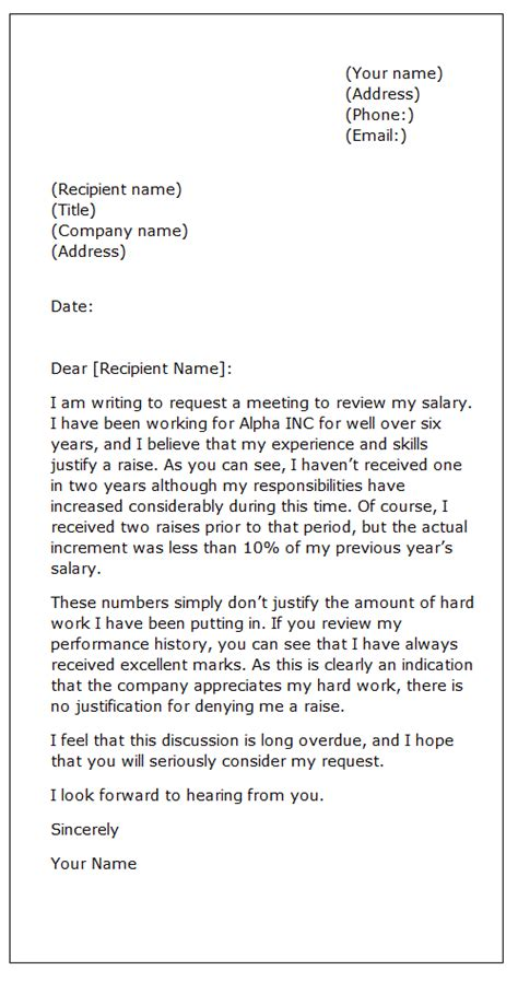 Pay Raise Letter Sle Asking For Meeting Sle Letter Requesting A Raise Sle Business Letter