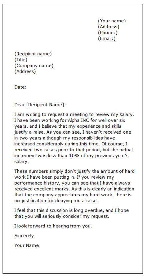 sample letter raise sample business letter