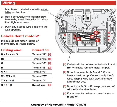 hvac wire colors honeywell thermostat wiring diy house help