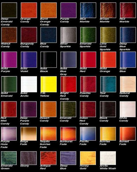 12 best car paint charts images on