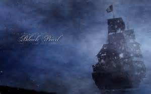 The black pearl pirates of the caribbean wallpaper