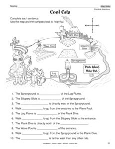 cardinal directions printable worksheets cardinal directions worksheet for kindergarten learn