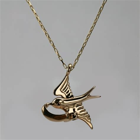 bluebird necklace in yellow gold womens necklaces