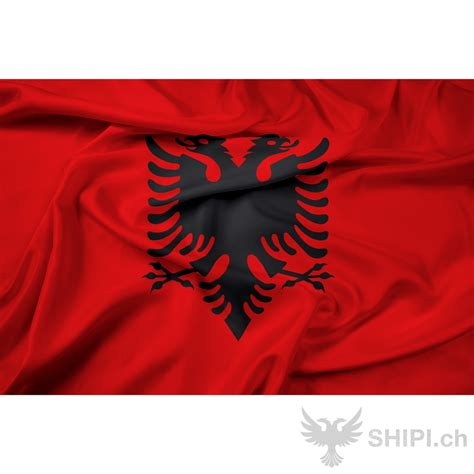 albanische flagge shipi ch