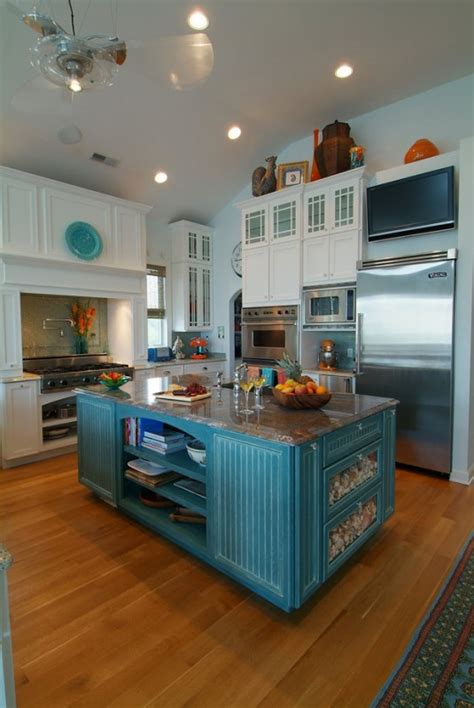 kitchen island colors remodelaholic trending now color in the kitchen