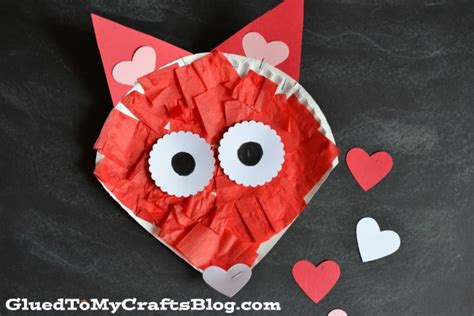 Paper Craft Valentines - paper plate crafts for preschoolers how wee learn