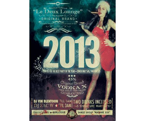 retro poster template new year flyer template retro style flyer vintage