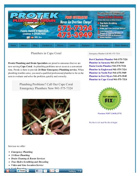 cape coral plumbing emergency