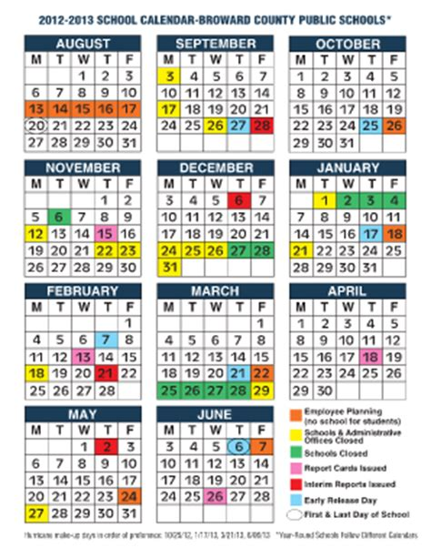 Broward College Academic Calendar Broward Schools Calendar Fill Printable