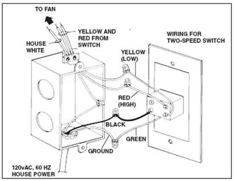 2 speed attic fan switch how to wire switches