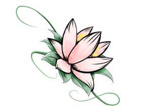 How To Draw Lotus Flowers Simple Lotus Flower Drawing Clipart Best