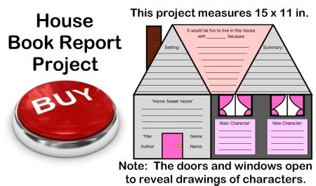 Iggies House Book Report by House Book Report Projects Templates Worksheets Grading Rubric And Bulletin Board Display