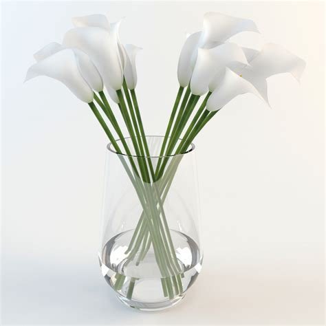 Lilies In A Vase 3d calla lilies vase