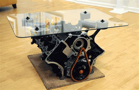 Engine Coffee Tables Mustang Engine Block Coffee Table