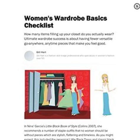 Basic Wardrobe Checklist by Closet Essentials Pearltrees
