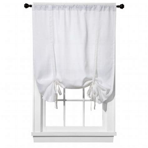 tie up shades curtains room essentials tie up cotton sailcloth window shade white