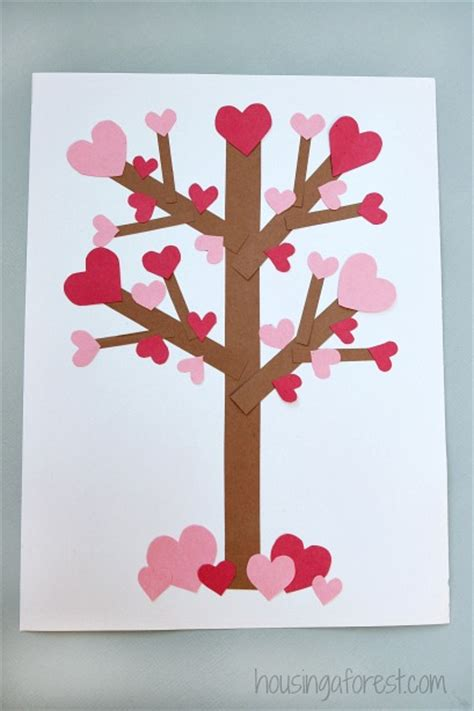 Valentines Day Paper Crafts - valentine s day tree paper craft housing a forest