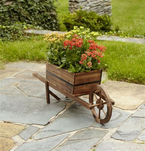 Wooden Wheelbarrows Planters by Wooden Wheelbarrow Planter Crafts