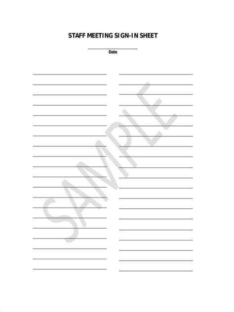 aa sign in sheet meeting attendance template expert include sheets