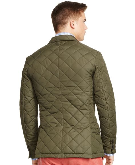 Mens Quilted Sport Coat by Polo Ralph Quilted Sport Coat In Green For Lyst