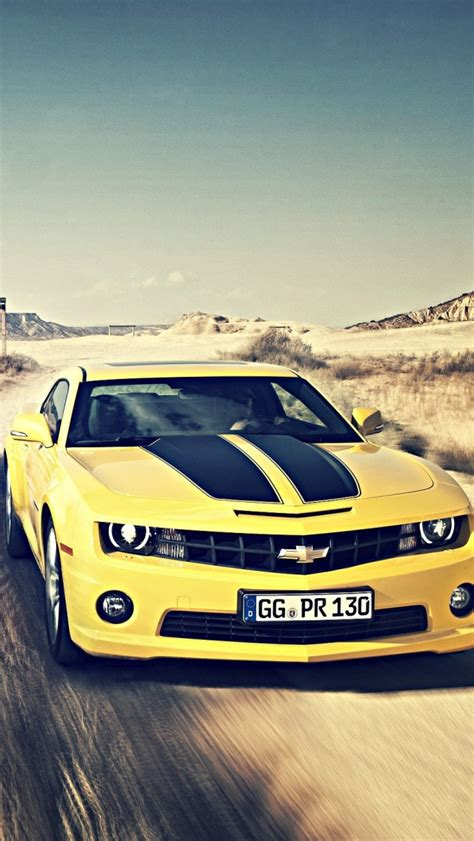 camaro ss bumblebee muscle car iphone  wallpaper hd