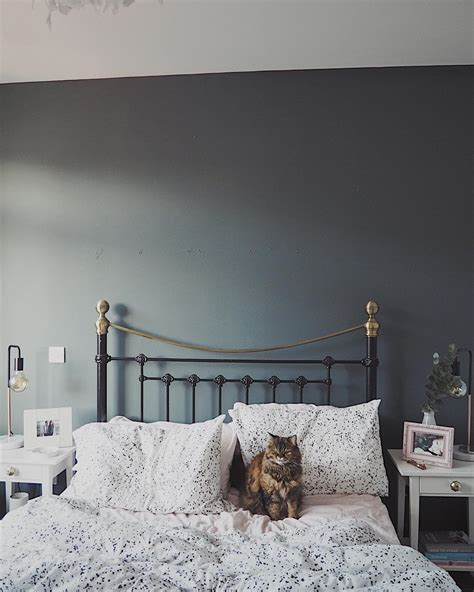 Farrow and Ball Downpipe Bedroom Walls   Interiors By Color