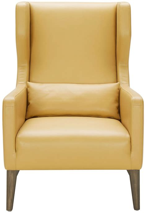 Mustard Leather Armchair Messina Mustard Leather Armchair 100700 Sunpan Modern Home