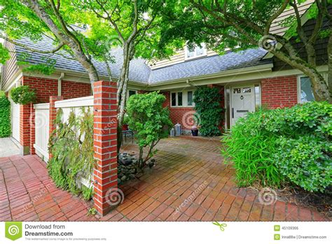 Backyard Building Plans brick house exterior with tile floor front yard stock