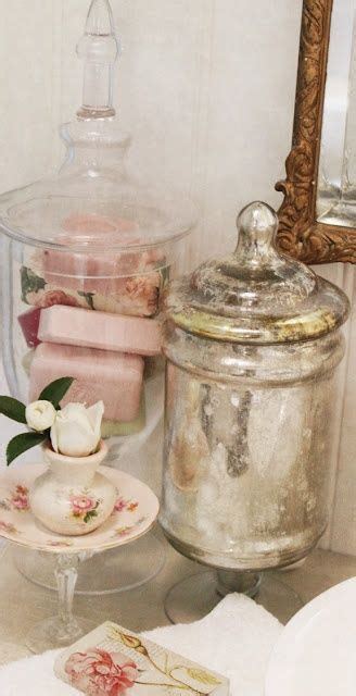 Bathroom Apothecary Jars 16 Best Images About Mercury Glass Antique Silver On Pinterest