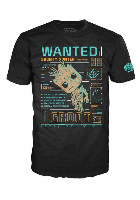 T Shirt Pria Groot Guardians Of The Galaxy 1 pop tees guardians of the galaxy groot line up s t shirt