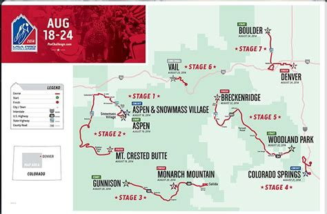 usa pro challenge map best ways to enjoy the usa pro challenge bicycle colorado