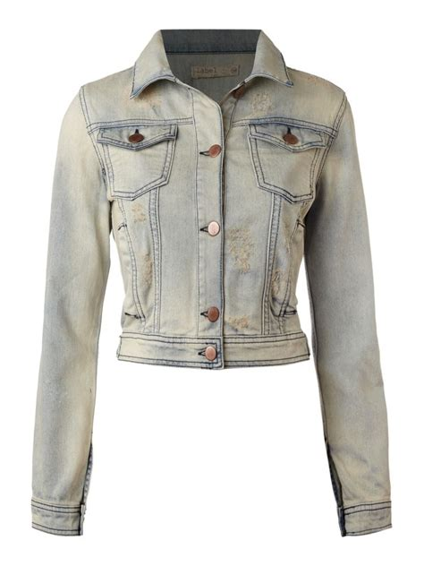 design lab jean jacket label lab denim jacket in denim stonewash ebay