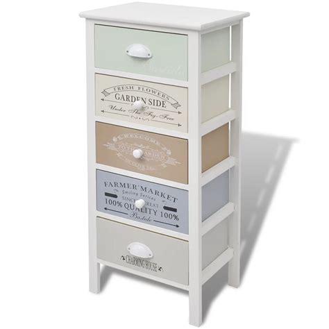 armoire tiroir acheter vidaxl armoire de rangement 5 tiroirs bois pas