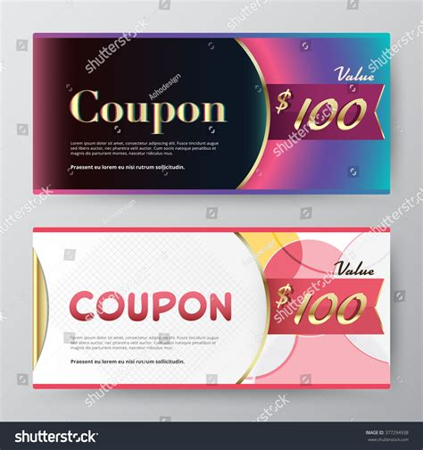 gift card design template gift voucher template promotion card coupon stock vector