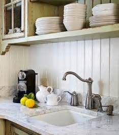 white wood paneling backsplash ideas for a unique