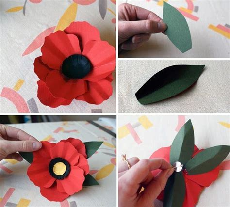 How To Make Paper Poppy Flowers - paper poppy diy fleures